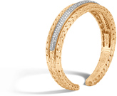 John Hardy Women's Classic Chain 14MM Cuff in 18K Gold with Diamonds