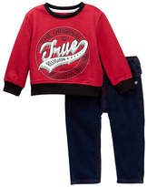True Religion Branded Pullover & Jeans Set (Baby Boys)