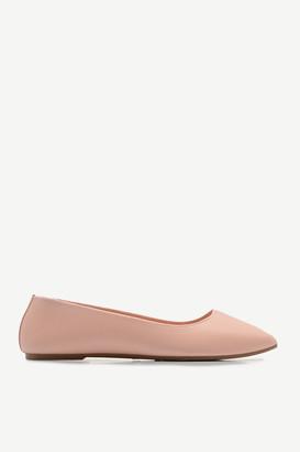 Ardene Basic Faux Leather Flats - Shoes |