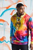 BoohooMAN Big & Tall Quavo Rainbow Tie Dye Hoodie