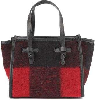Gianni Chiarini Marcella Small Bag In Check Print Boiled Wool