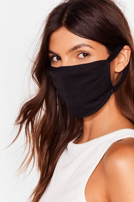 Nasty Gal Womens All Mouth Fashion Face Mask - Black