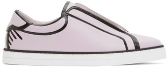 Fendi Pink and Black Joshua Vides Edition Leather Sneakers