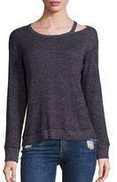 Wilt Asymmetrical Neck Cutout Sweater