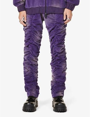 Mjb   Marc Jacques Burton Acid wash relaxed-fit velvet trousers