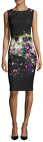 Fuzzi Floral Printed Sheath Dress