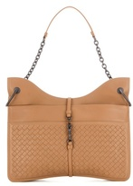 Bottega Veneta Beverly Intrecciato Leather Shoulder Bag