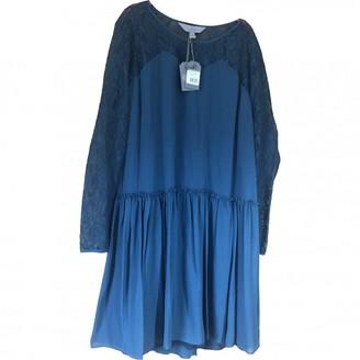Mulberry Navy Silk Dresses