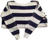 Free People Blue Cotton Knitwear