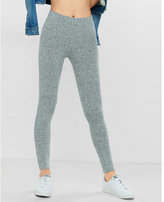 Express One Eleven Light Gray Plush Jersey Legging