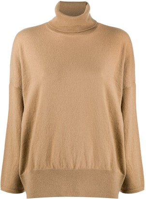 Societe Anonyme Roll Neck Fine Ribbed Knit Jumper