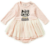 Jessica Simpson Baby Girls Newborn-9 Months Cat-Printed Netted Dress
