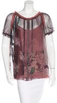 Alberta Ferretti Silk Printed Top