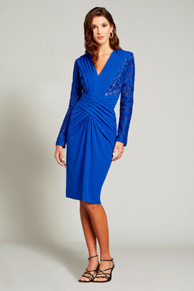 Tadashi Shoji Long Sleeve Ruched Cocktail Dress