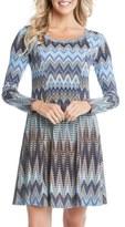 Karen Kane Women's 'Desert Zigzag' Print A-Line Dress