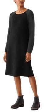 Eileen Fisher Contrast Sleeve Dress