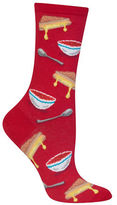 Hot Sox Grilled Cheese and Tomato Soup Printed Socks