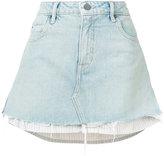 Alexander Wang Bleached Mini layered denim skirt