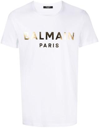 Balmain logo-print cotton T-shirt