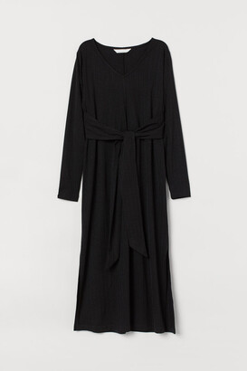 H&M MAMA Ribbed Dress - Black