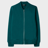 Paul Smith Men's Teal Organic-Cotton Jersey Bomber Jacket