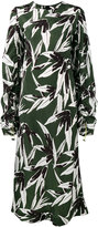 Marni ruched leaf print dress - women - Viscose - 42