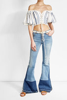 Roberto Cavalli Cropped Lace-Up Top