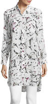 Two By Vince Camuto Petite Brushstroke Printed Tunic