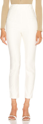 GRLFRND Power Hi Waist Cigarette Pant in White | FWRD