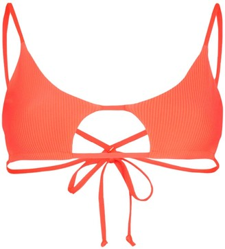 Frankie's Bikinis Willa cut-out bikini top