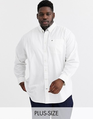 Tommy Hilfiger Big & Tall captote long sleeve shirt in white