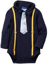 Andy & Evan Navy Bodysuit with Sneaker/Glasses Tie (Baby Boys)