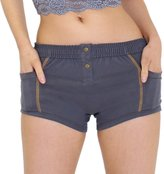 FOXERS Tomboy Boxer Brief | Charcoal Grey W/ Gold Stitching