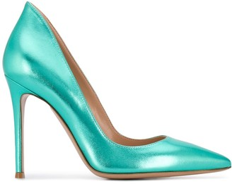 Gianvito Rossi Metallic Stiletto Pumps
