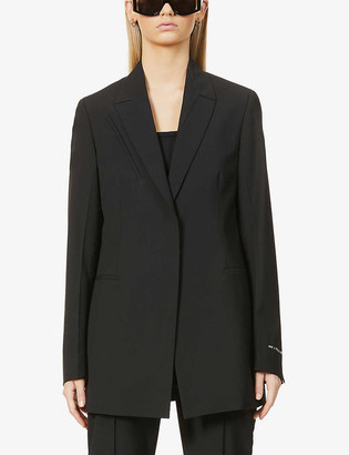 Alyx Branded single-breasted woven blazer