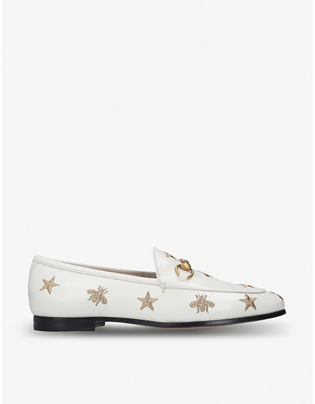 dd5fa0b8f10 Gucci Embroidered Loafers - ShopStyle
