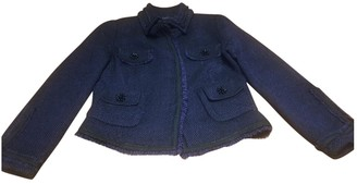 Carolina Herrera Purple Tweed Jacket for Women
