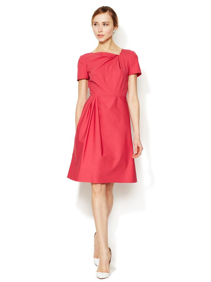 Valentino Cotton Pleated Asymmetrical Dress