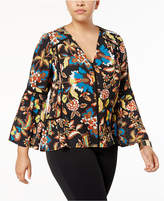 INC International Concepts Anna Sui Loves Plus Size Printed Top, Created for Macy's