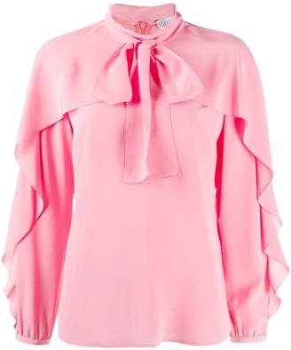 RED Valentino Ruffle Sleeve Blouse