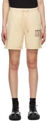 Helmut Lang Beige Finest Masc Shorts