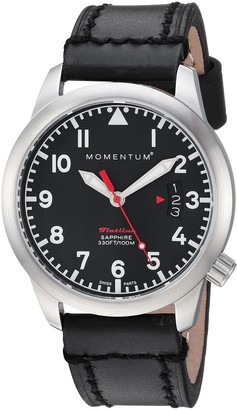Momentum Women's 1M-SP19BS3B Flatline 36 Analog Display Quartz Black Watch