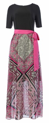 Jessica Howard JessicaHoward Women's Elbow Sleeve Maxi Dress