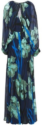 Just Cavalli Wrap-effect Printed Georgette Maxi Dress