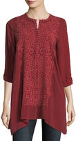 Johnny Was Rona Georgette Tunic, Plus Size