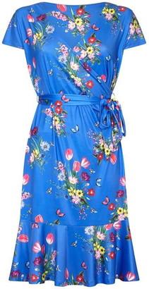 Yumi Bouquet Print Slinky Jersey Dress