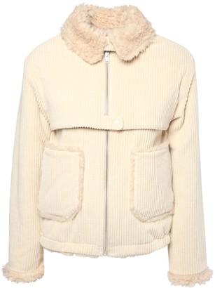Kenzo Corduroy & Faux Shearling Jacket