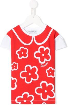 Simonetta floral-print regular-fit T-shirt