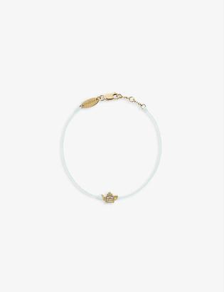THE ALKEMISTRY Redline 18ct yellow-gold, silk-thread and 0.05ct diamond bracelet