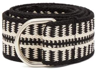 Isabel Marant Nyess Woven Cotton Blend Belt - Womens - Black